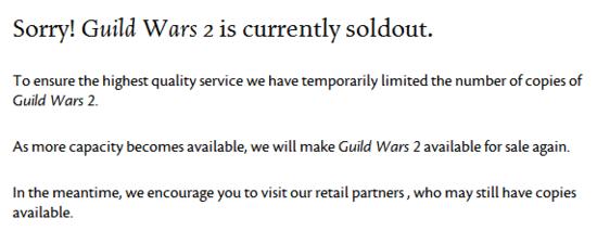 《激战2》大规模封停非法玩家帐号 暂停游戏销售